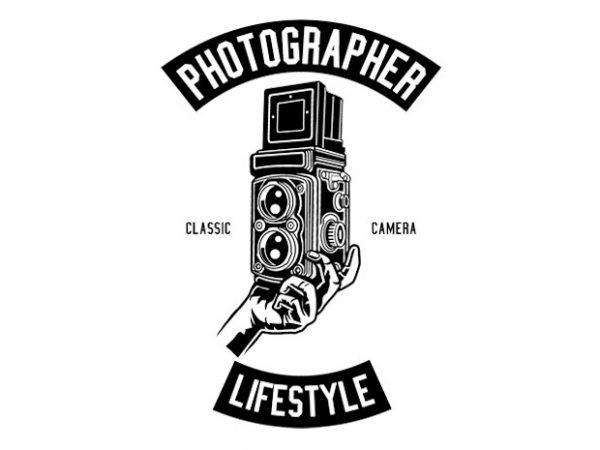 Photographer Lifestyle Tshirt Design buy t shirt design