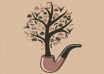 Pipe Tree Tshirt Design buy t shirt design