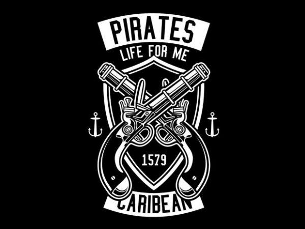 Pirates Caribean Tshirt Design