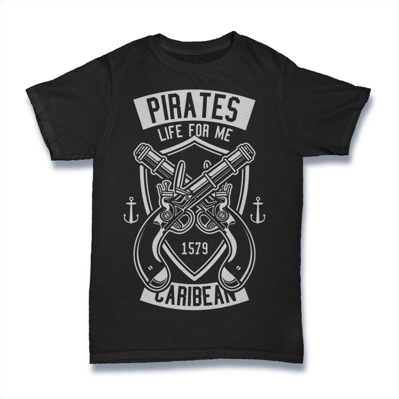 Pirates Caribean Tshirt Design buy t shirt design