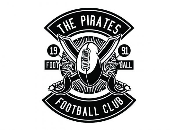 Pirates Football Tshirt Design