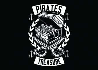 Pirates Treasure t shirt illustration