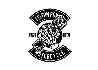 Piston Power Tshirt Design buy t shirt design