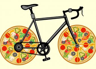 Pizza Bike Tshirt Design buy t shirt design