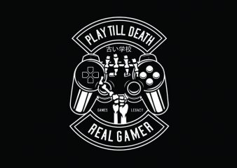 Play Till Death Tshirt Design