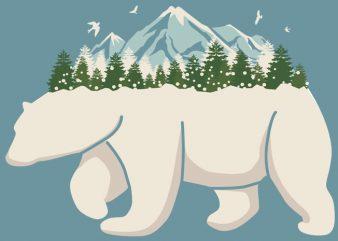 Polar Bear Tshirt Design buy t shirt design