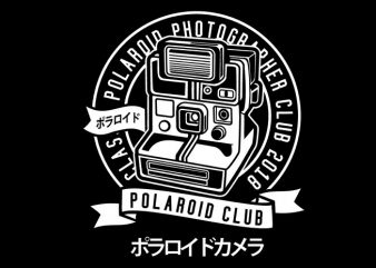Polaroid Tshirt Design t shirt vector