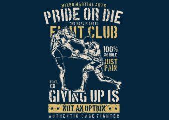 Pride Or Die Vector t-shirt design buy t shirt design