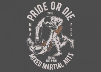 Pride Or Die Vector t-shirt design t shirt template