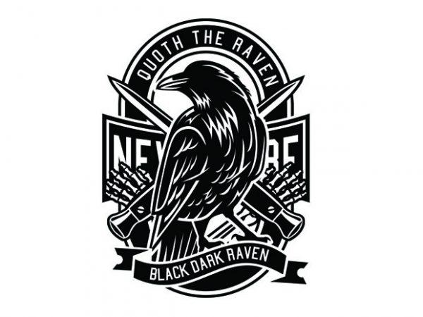 Raven Tshirt Design buy t shirt design