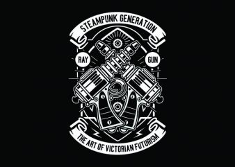 Retro Gun Tshirt Design buy t shirt design