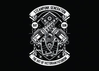 Retro Gun Tshirt Design