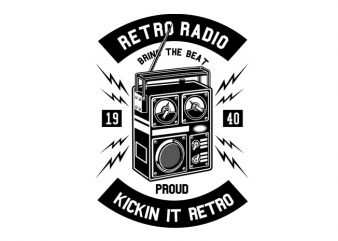 Retro Radio Tshirt Design buy t shirt design