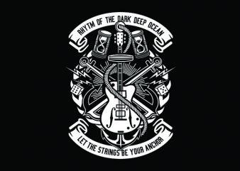Rhtym Of Dark Ocean Tshirt Design