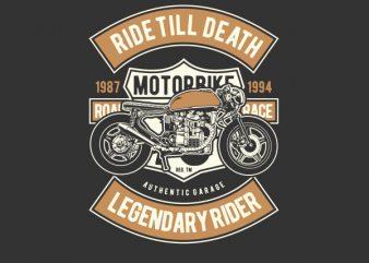 Ride Till Death Vector t-shirt design buy t shirt design
