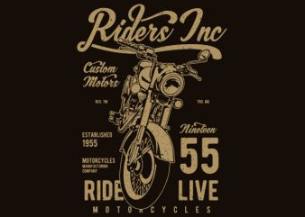 Riders Vector t-shirt design