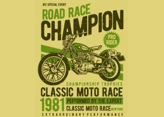 Road Race Champion Vector t-shirt design buy t shirt design