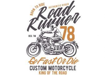 Road Runner Vector t-shirt design buy t shirt design