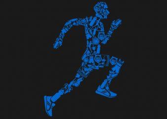 Runner Tshirt Design t shirt vector