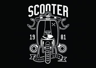 Scooter Classic Tshirt Design buy t shirt design