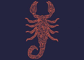 Scorpion Tshirt Design buy t shirt design