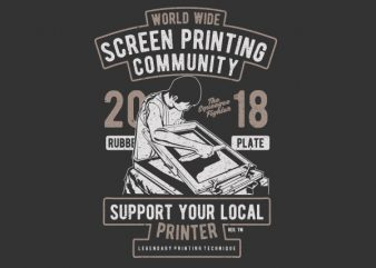Screen Printing Community buy t shirt design