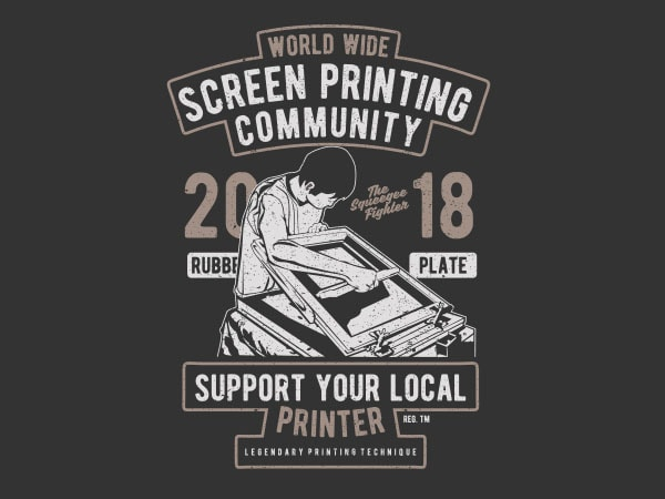 Screen Printing Community buy t shirt design