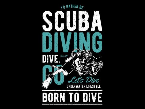 Scuba Diving Vector t-shirt design buy t shirt design