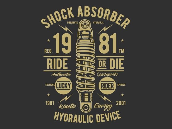 Shock Absorber Vector t-shirt design