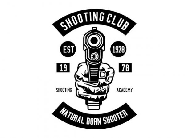 Shooting Club Tshirt Design buy t shirt design