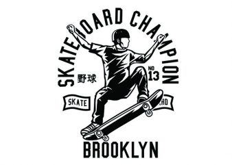 Skateboard Champion Tshirt Design t shirt template