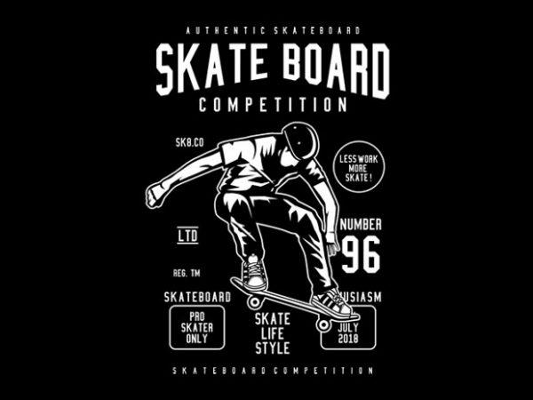 Skateboard Competition Tshirt Design buy t shirt design