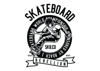 Skateboard Rebellion Tshirt Design t shirt template