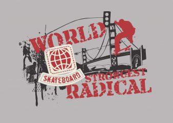 World Strongest Radical buy t shirt design
