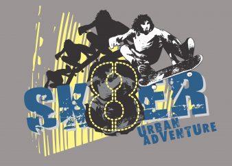 Skater Urban Adventure buy t shirt design
