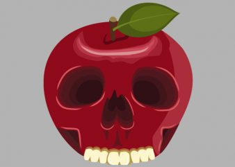 Skull Apple Tshirt Design buy t shirt design