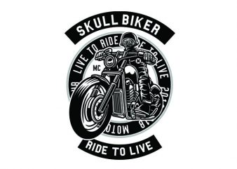 Skull Biker Tshirt Design buy t shirt design