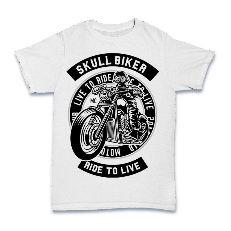 Skull Biker Tshirt Design buy t shirt design