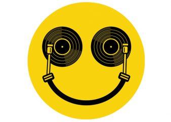 Smile DJ Tshirt Design buy t shirt design
