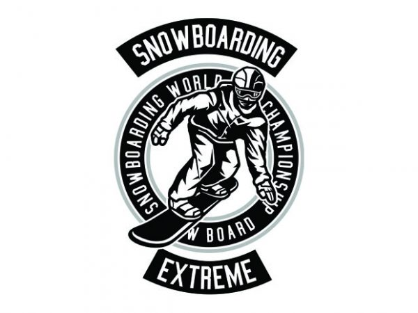 Snowboard Tshirt Design buy t shirt design