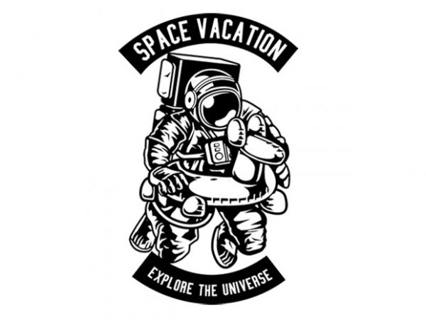 Space Vacation Tshirt Design buy t shirt design