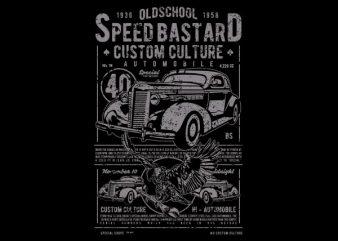 Speed Bastard Vector t-shirt design buy t shirt design