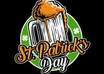 St Patrick Day Logo t shirt template vector
