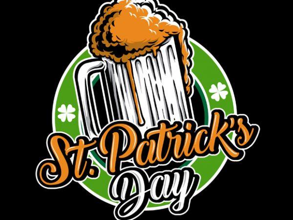 St Patrick Day Logo t shirt template vector