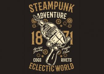 Steampunk Adventure Vector t-shirt design buy t shirt design