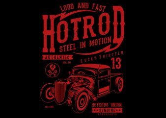 Steel In Motion vector tshirt design