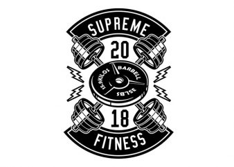Supreme Fitness Tshirt Design