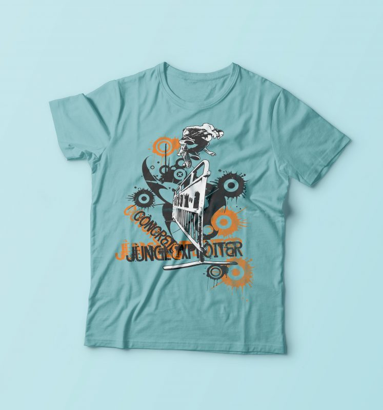 Concrete Skater buy t shirt design