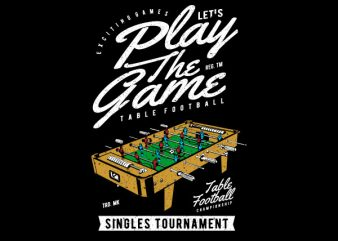 Table Football Vector t-shirt design t shirt template