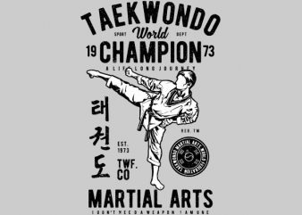 Taekwondo World Graphic t-shirt design t shirt template
